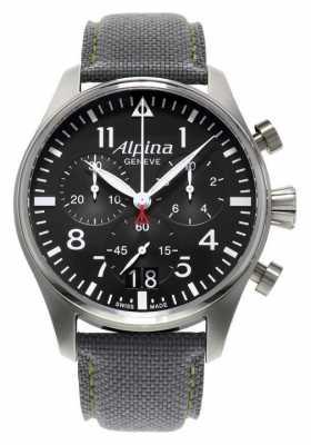 Alpina Mens Startimer Pilot Chronograph Quartz AL372B4S6