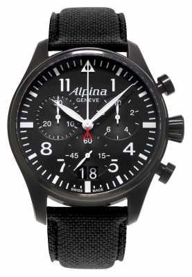 Alpina Mens Startimer Pilot Chronograph Quartz AL-372B4FBS6
