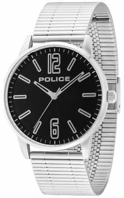 Police Mens acier inoxydable esquire billette noir 14765JS/02M