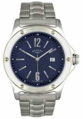 Rotary Mens Stainless Steel Dark Blue Dial GB02565/05