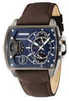Police Mens Scorpion Blue Multi Dial Brown Leather Strap 14698JSU/03