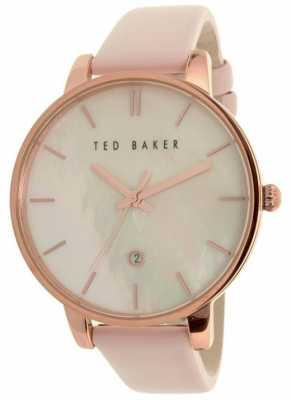Ted Baker Womans Pink Leather Strap Pearl Dial 10026423