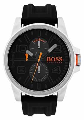 Hugo Boss Orange Detroit Black Rubber Chronograph Watch 1550006
