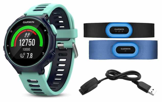 Garmin Mens Forerunner 735XT Tri-bundle Blue 010-01614-10
