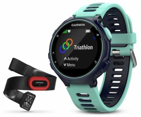 Garmin Mens Forerunner 735XT Run Bundle Blue 010-01614-16