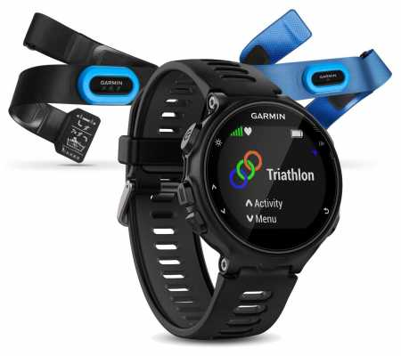 Garmin Mens Forerunner 735XT Tri-bundle Black 010-01614-09
