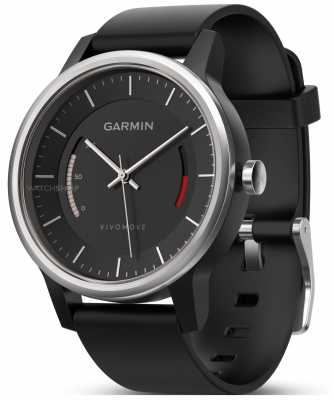 Garmin Mens Vivomove Sport Band Black 010-01597-00