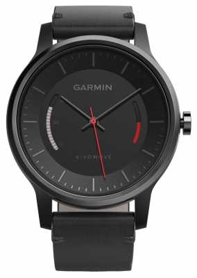 Garmin Unisex Vivomove Leather Band Black 010-01597-10