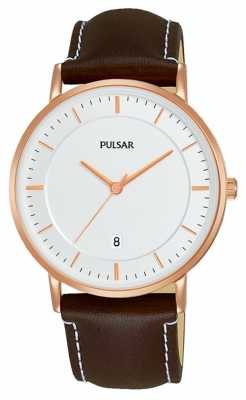Pulsar Gents Brown Leather Watch PG8258X1