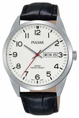 Pulsar Gents Classic Black Leather Watch PJ6065X1