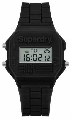 Superdry Mens Retro Digi Black Silicone SYG201B