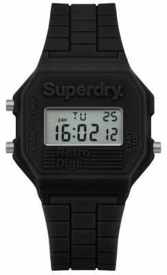 Superdry Retro Digi Black Silicone SYL201B