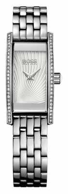 Hugo Boss Womens Cocktail Stainless Steel Bracelet Silver Dial 1502388