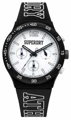 Superdry Mens Urban Athletics Black Silicone SYG205B
