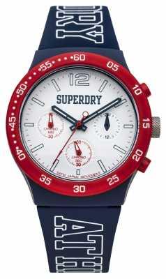 Superdry Mens Urban Athletics Blue Silicone SYG205U