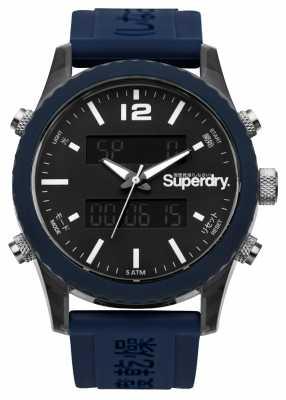 Superdry Mens Tokyo Andigi Navy Blue Silicone SYG206U