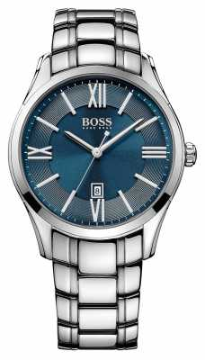 Hugo Boss Mens Ambassador Stainless Steel Blue Dial 1513034