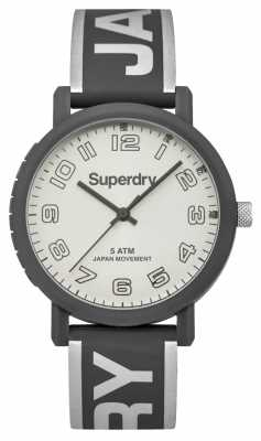 Superdry Ladies Campus Grey Silicone SYL196EE