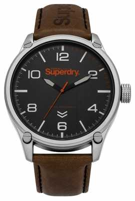 Superdry Mens Military Brown Leather SYG200BBR