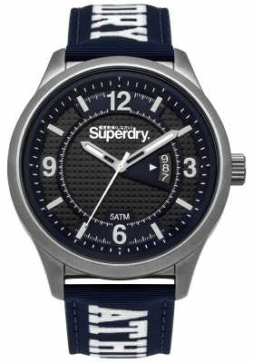 Superdry Mens Yokohama Athletic Blue Nylon SYG171UW
