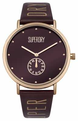 Superdry Womans Oxford Crystal Sub Section Mulberry SYL175RRG