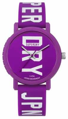 Superdry Womans Campus Fluro Block Purple SYL196VW