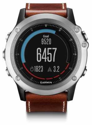 Garmin Fenix 3 Sapphire GPS Leather Strap 010-01338-62