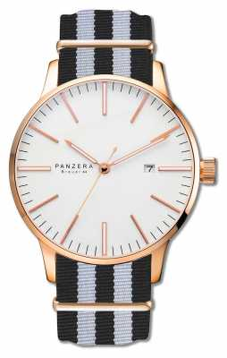 Panzera Breuer 44 Aurum Blizzard rose gold case B44-03DN2