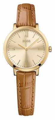 Hugo Boss Ladies Jillian Brown Leather Watch 1502394
