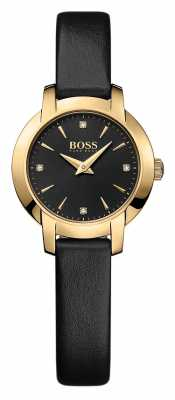 Hugo Boss Ladies Success Black Leather Watch 1502383