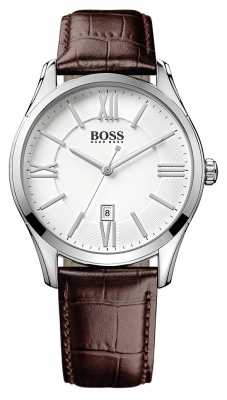 Hugo Boss Gents Ambassador Brown Leather Watch 1513021