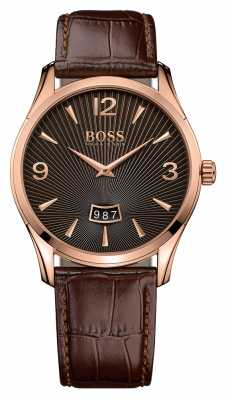 Hugo Boss Gents Commander Brown Leather Watch 1513426