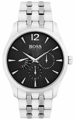 Hugo Boss Mens Commander Stainless Steel Black Dial 1513493