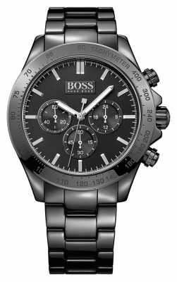 Hugo Boss Gents Ikon Black Stainless Steel Watch 1513197