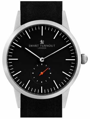 Smart Turnout Signature Watch - Black With Black Leather And Silver STK3/BK/56/W