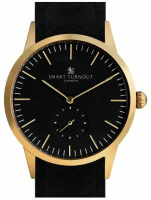 Smart Turnout Signature Watch - Gold With Black Leather And Gf Strap STK3/GO/56/W
