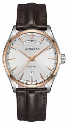 Hamilton Mens Jazzmaster Day Date Automatic Leather H42525551