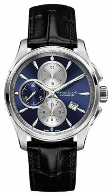Hamilton Mens Jazzmaster Auto Chronograph Blue H32596741