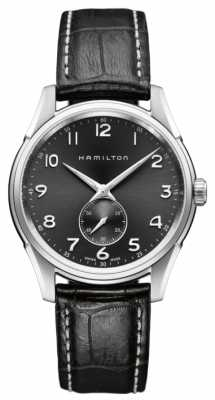 Hamilton Mens Jazzmaster Thinline Small Second Quartz Black H38411783