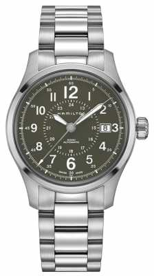 Hamilton Mens Khaki Field Auto 40mm Steel H70595163