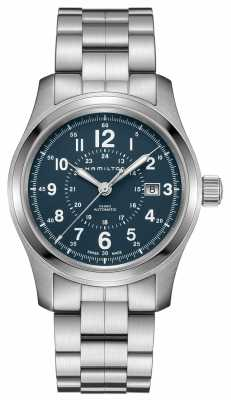 Hamilton Mens Khaki Field Auto 40mm Blue T