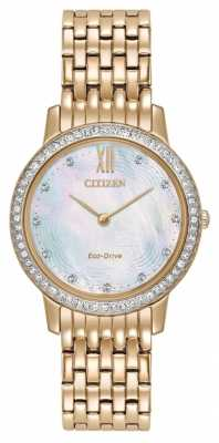 Citizen Womans Eco-Drive Silhouette Crystal Rose Gold EX1483-50D