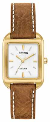 Cath Kidston Womans Eco-Drive Silhouette Tan Leather EM0492-02A