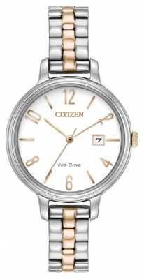 Citizen Womans Eco-Drive Silhouette Two Tone EW2446-57A