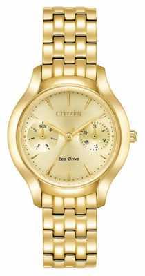 Citizen Womans Eco-Drive Silhouette Chandler Gold FD4012-51P