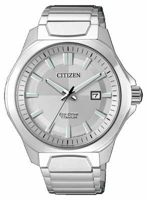 Citizen Mens Eco-Drive Super Titanium Silver watch AW1540-88A