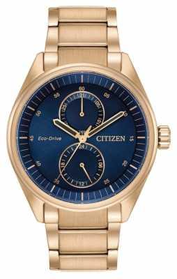 Citizen Mens Eco-Drive Paradex Blue Rose Gold BU3013-53L