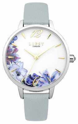 Lipsy Womans Light Blue PU Strap Floral Dial LP510