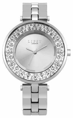 Lipsy Womans Silver Tone Diamante LP499