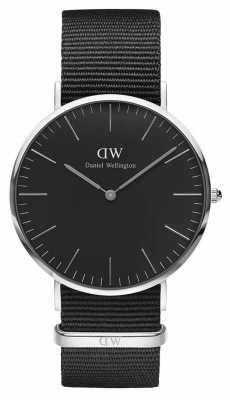 Daniel Wellington Unisex Classic Cornwall 40mm Black DW00100149
